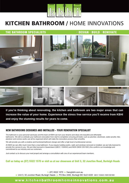 Brochure - Gold Coast - Kitchen Bathroom Home innovations