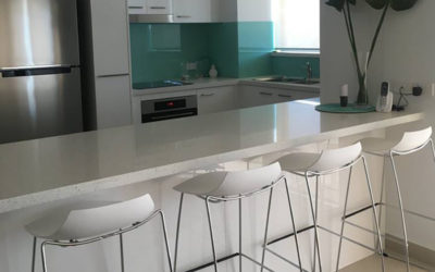 Kitchen Bathroom Renovations - Gold Coast - Decorated kitchen with stylist white chairs