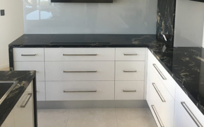 Kitchen Bathroom Renovations - Gold Coast - Decorated kitchen with black marble